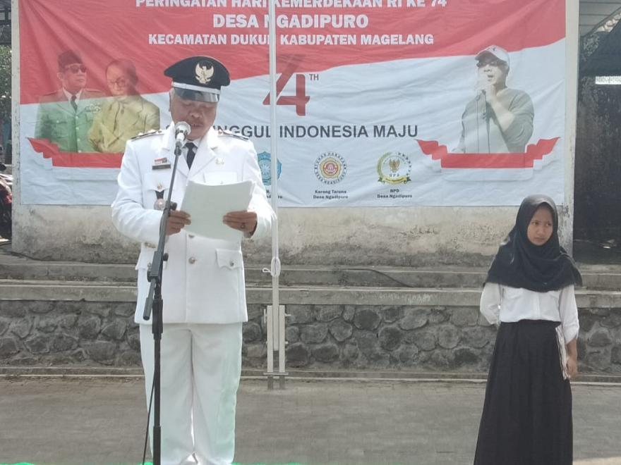 Image : UPACARA DETIK DETIK PROKLAMASI HUT RI 74 DESA NGADIPURO