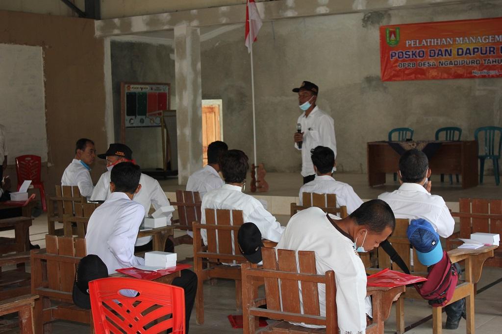 Image : Pelatihan managemen POSKO dan Dapur Umum OPRB Desa Ngadipuro Tahun 2020